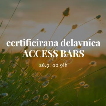 26.9. Certificirana delavnica ACCESS BARS